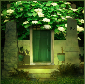 Green door house